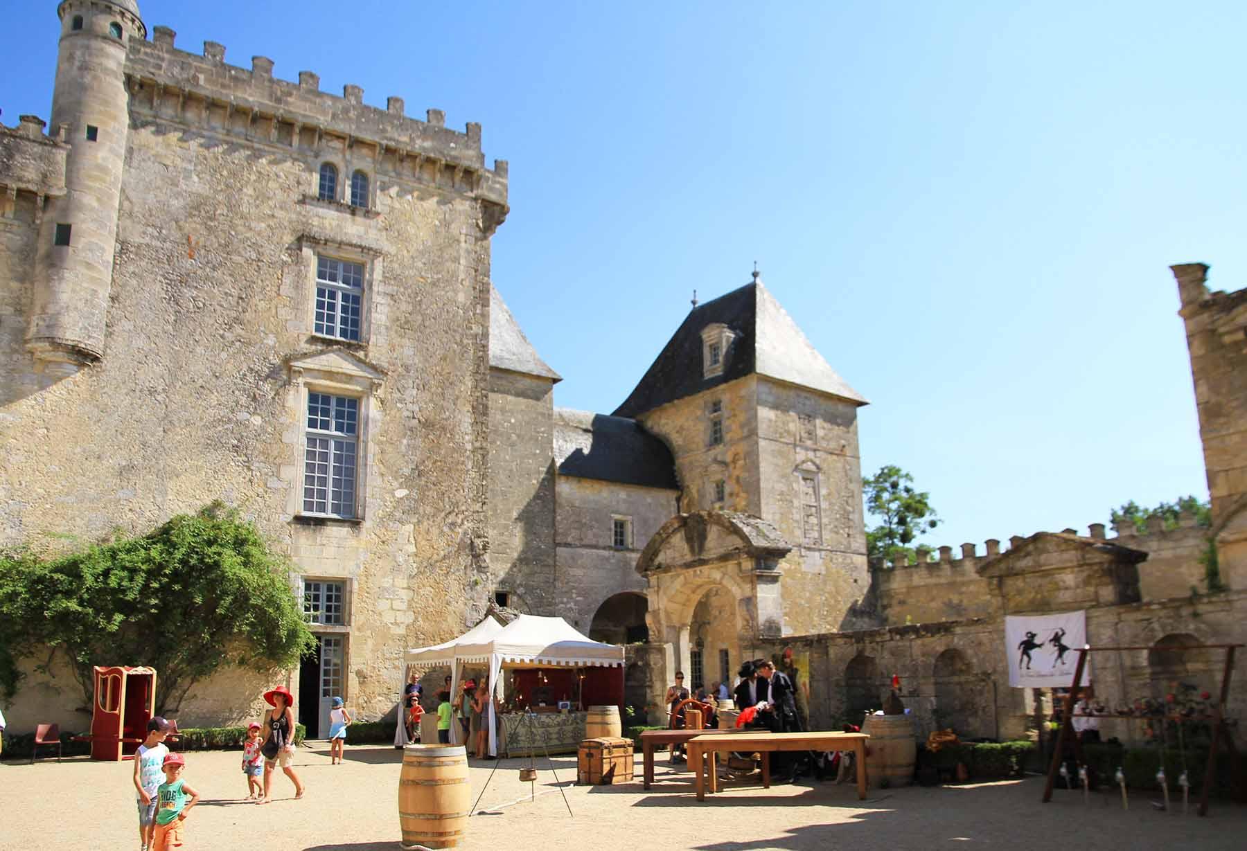 Bal masqué au château de Vayres