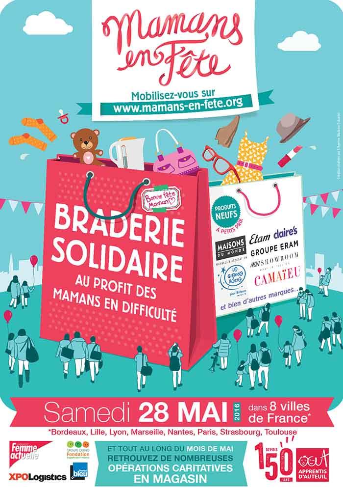 Braderie solidaire Mamans en fête à Bordeaux