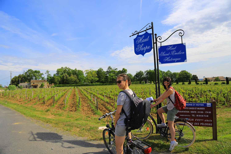 Week-end à Saint Emilion à vélo